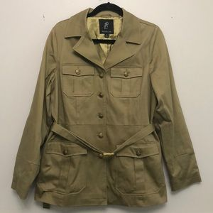Rachel Zoe olive green trench coat